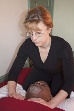Portrait picture of Sarah Kibble at work