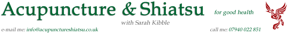 Acupuncture & Shiatsu with Sarah Kibble